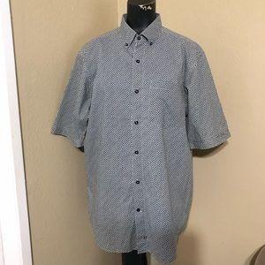 Sean John All Over Print Button Down SS Shirt